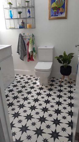 Customer photo of Elettra pattern flooring & Feature Tiles from forthefloorandmore.com