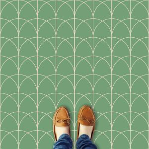 Verdio arch pattern printed geometric design vinyl flooring exclusively from forthefloorandmore.com