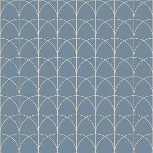 Verzurro arch pattern printed geometric design vinyl flooring exclusively from forthefloorandmore.com