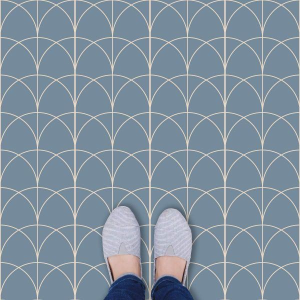 Verzurro arch pattern printed geometric design vinyl flooring exclusively from forthefloorandmore.com